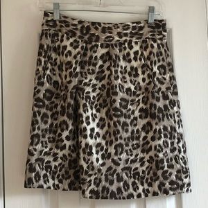 100% silk Banana Republic cheetah print skirt